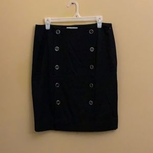 White House Black Market button skirt